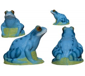 Cible 3D 3 DI  Grenouille Blue