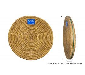 Cible ronde en PAILLE TRESSE EGERTEC dia. 128 cm 10 cm d'epaisseur