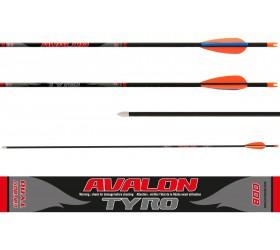 "flèche Avalon Tyro 100% carbone EXTRA LONGUE 33"""